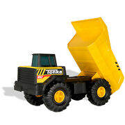 Tonka Steel Classics Mighty Dump Truck, Toys For Children 4 Years And Up, Fun Play