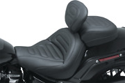Mustang Max Profile Motorcycle Solo Seat And Backrest 18-19 Harley Softail Fxfb
