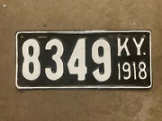 1918 Kentucky License Plate 8349 Ford Model T