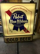 Vintage Pabst Pbr Outdoor Sign Plus Cold Beer. Large
