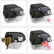 Elite Self-cleaning Litter Box Chrome Accents 16.5x18.5x17 | Free Shipping