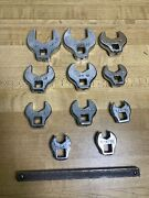 """Cornwell Tools 3/8 Drive 11 Pc Sae Open End Crowfoot Wrench Set 3/8 - 1"""" Sb-11"""