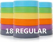 Food Grade Colored Plastic Storage Caps For Mason/canning Jars - Anti-scratch