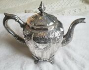 New York Coin Silver Repousse Chased Teapot By Francis W Cooper For Seymour Hoyt