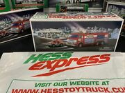 Vintage 2005 Hess Truck Fire Truck With Rescue Vehicle In Original Box