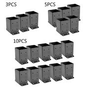 4 X 4 Post Base Post Anchor 3/5/10 Pcs Anti-corrosion Bracket For Deck Supports