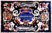 Pietradura Marble Dining Table Top And Free Outdoor Coffee Table Inlay Patio Art