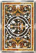 Outdoor Marble Pietra Dura Inlaid Work Dining Table Fine Collectible Stone H4675