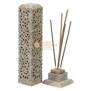 11 Marble Soapstone Candle Cum Incense Holder Handcurved Collectible Gift Decor