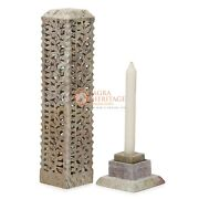11 Marble Soapstone Candle Cum Incense Holder Decorative Living Room Area Gifts