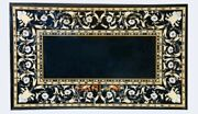 4'x2' Black Marble Dining Table Top Arts Mother Of Pearl Floral Inlay Decor B325