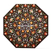 Dinette Table Marble Inlaid Floral Multi Collection Home Furnished Decor H4980