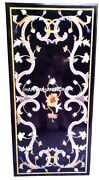 Dining Room Marble Modern Table Top Marquetry Inlay Pietra Dura Work Decor H4356