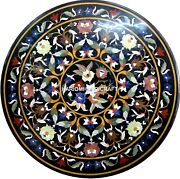 Floral Inlay Design Marble Dining Room Semi Table Mosaic Stone Home Decor H4358