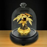 Lucky Fortune Tree Wealth Ornament 24k Gold Foil Crafts Fengshui Decor Gift Box