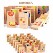 28 Pcs Printed Educational Wooden Toy Domino Animal Puzzles Kids Game Gift- Mul