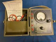 Ww2 Wwii Us Army Signal Corps I-166 Voltohmmeter