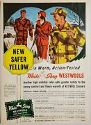 1949 Print Ad White Stag Westwools Wool Hunting Clothes Portland,oregon