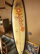 1970andrsquos 8and039 Dyno Vintage Surfboard Signed By Rolf Aurness - Amazing Piece
