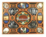 48and039and039 Marble Table Corner Top Best Quality Inlay Arts Pietradura Rare Decor H5068