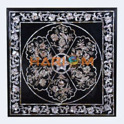 3and039 Marble Dining Table Top Mother Of Pearl Birds And Floral Inlay Home Decors B510