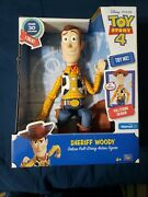 Disney Pixar Toy Story Sheriff Woody Deluxe Pull-string Talking Action Figure 30