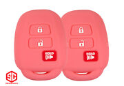 2x New Keyfob Remote Fobik Silicone Cover Fit / For Select Toyota Vehicles