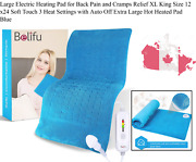 Large Electric Heating Pad For Back Pain And Cramps Relief Xl King Size 12 X2...