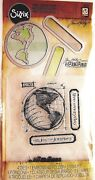 The Journey Globe Sizzix Tim Holtz Die Embossing Folder And Clear Stamp Set New