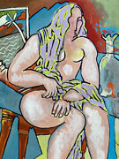 Jean Marc 1949-2019 20th Century French Modernist Painting - Seated Nude