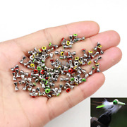 10/20/50pcs Brass Dumbbell Eyes Fly Tying Materials Beads Metal 4mm/4.8mm