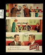 1949 Schlitz Beer That Made Milwaukee Famous Vintage Print Ads 9377
