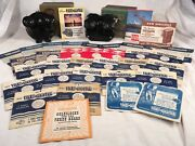 2 Vtg Sawyer's View-master Stereoscopes W/ 29 Reels And Original Boxes And Paperwork