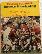 1969 Sports Illustrated Ohio State Buckeyes Woody Hayes Rex Kern Ncaa Preview