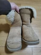 Ugg Shoes I Uggs-bailey Button 11 In Chestnut Suede I Color Tan I Size 8