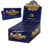 New Sealed Box/25 Packs Pay-pay 2.0 Double Wide Hemp Cigarette Rolling Papers