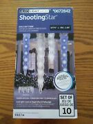 New Gemmy Led Lightshow Shooting Star Icicle Lights Icy Blue Christmas