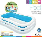 Intex Swim Center Family Inflatable Pool 103 X 69 X 22 For Ages 6+