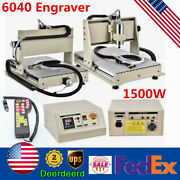 3 Axis 1500w Cnc 6040t Router Engraving 3d Metal Wood Carving Machine+handwheel