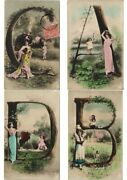 Alphabet Serie Glamour Ca.1905 Lot Of 26 Real Photo Postcard L3042