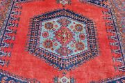 C1930s Antique Caucasian Design Vees Room Size Rug 7and039x11and0394 Great Colorssubject