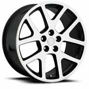 Fits 20 Viper Machine Black All Season Tire Wheels Rims For Charger Challenger