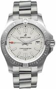 Breitling Colt 41 Automatic Steel Silver Dial Menand039s Watch A17313101g1a1