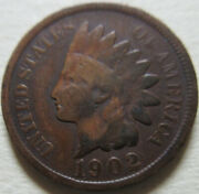 1902 United States Indian Head Small Cent Coin Rj624