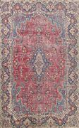 Floral Semi Antique Kirman Large Area Rug Hand-knotted Oriental Carpet 10'x13'