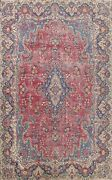 Floral Semi Antique Kirman Large Area Rug Hand-knotted Oriental Carpet 10and039x13and039