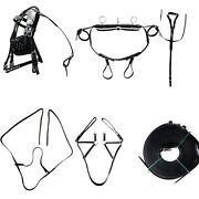 Leather Heart Design Driving Harness Set For Miniature Horse Black