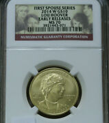 2014 W Lou Hoover First Spouse Gold 10 Ngc Ms70  Early Release