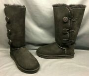 Ugg Australia Womenand039s Bailey Button Triplet Ii Winter Boots Black Size 7 New