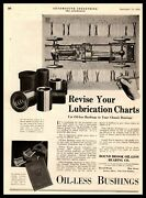 1919 Bound Brook New Jersey Oil-less Bearing Company Bushings Vintage Print Ad